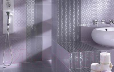 Декоративная плитка для ванной Ceramika Paradyz Piumetta Viola A (595x295)