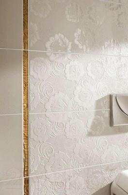Декоративная плитка Ceramika Paradyz Ricoletta Bianco Kwiaty (595x295)