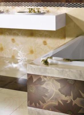 Декоративная плитка для ванной Ceramika Paradyz Sabro Beige Kwiat (595x295)