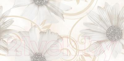 Декоративная плитка для ванной Ceramika Paradyz Sabro Bianco Kwiat (595x295)