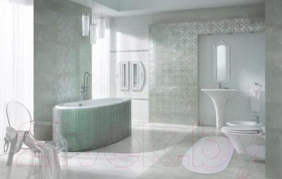 Бордюр для ванной Ceramika Paradyz Sabro Bianco Meander A (595x30)