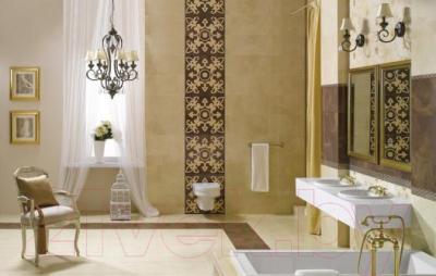 Декоративная плитка для ванной Ceramika Paradyz Sabro Brown Geometryk (595x295)