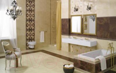 Плитка для пола ванной Ceramika Paradyz Sabro Silon Beige (395x395)