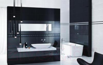 Бордюр для ванной Ceramika Paradyz Piumetta Nero A (595x70)
