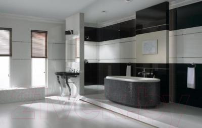 Бордюр для ванной Ceramika Paradyz Secret Nero (595x70)