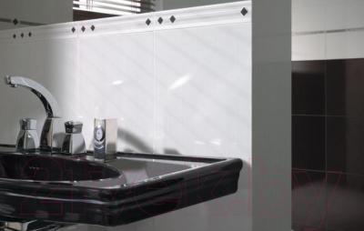 Бордюр для ванной Ceramika Paradyz Secret Nero Krysztaly (295x15)