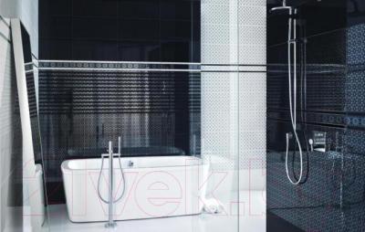 Бордюр для ванной Ceramika Paradyz Piumetta Nero (595x23)
