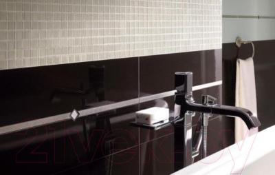 Бордюр для ванной Ceramika Paradyz Nero Poduszki (595x70, нарезной)