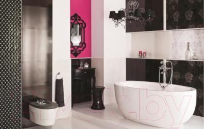 Бордюр для ванной Ceramika Paradyz Secret Nero Poduszki (595x70)