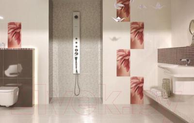 Бордюр для ванной Ceramika Paradyz Sorenta Bianco Paski (600x30)