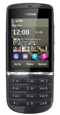 Мобильный телефон Nokia Asha 300 Graphite - спереди