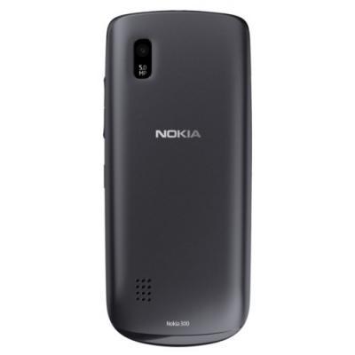 Мобильный телефон Nokia Asha 300 Graphite - сзади