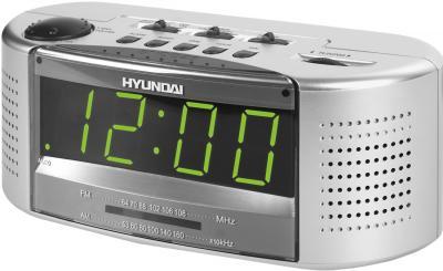 Радиочасы Hyundai H-1510  (Silver and Green) - общий вид