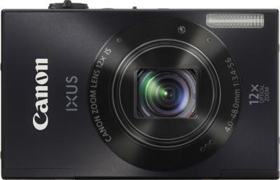 Компактный фотоаппарат Canon IXUS 500 HS Black - Вид спереди