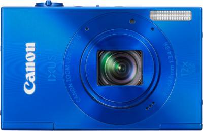 Компактный фотоаппарат Canon IXUS 500 HS Blue - Вид спереди