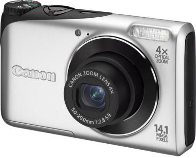 Компактный фотоаппарат Canon PowerShot A2200 Silver - Общий вид