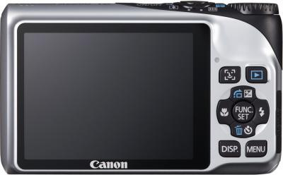 Компактный фотоаппарат Canon PowerShot A2200 Silver - Вид сзади