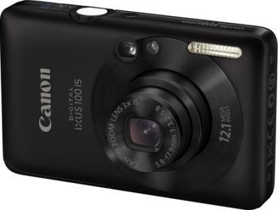 Компактный фотоаппарат Canon IXUS 100 IS (PowerShot SD780 IS) Black - общий вид
