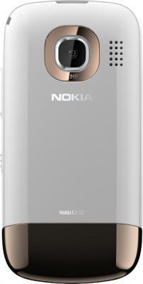 Мобильный телефон Nokia C2-02 Golden White - задняя панель