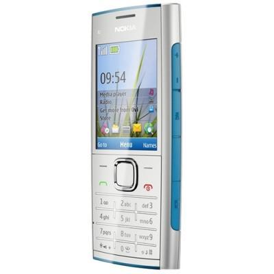 Мобильный телефон Nokia X2-00 Blue - повернут