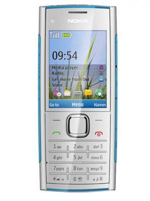 Мобильный телефон Nokia X2-00 Blue - спереди