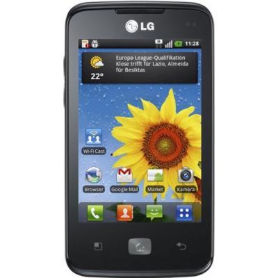 Смартфон LG E510 Optimus Hub - спереди