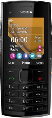Мобильный телефон Nokia X2-02 Orange - общий вид