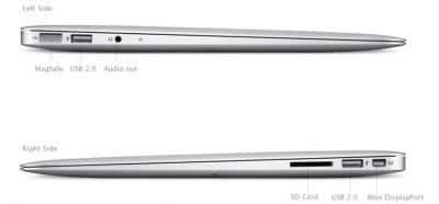 Ноутбук Apple MacBook Air 13'' (MD232RS/A) - общий вид