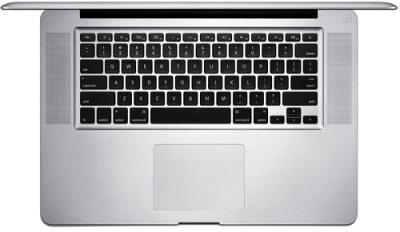 Ноутбук Apple MacBook Pro 15'' (MD103RS/A) - Вид сверху клавиатура