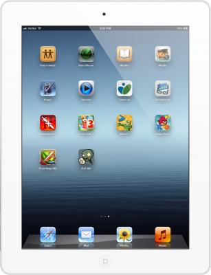 Планшет Apple iPad 64GB 4G White-Sun (MD371RS/A) - фронтальный вид