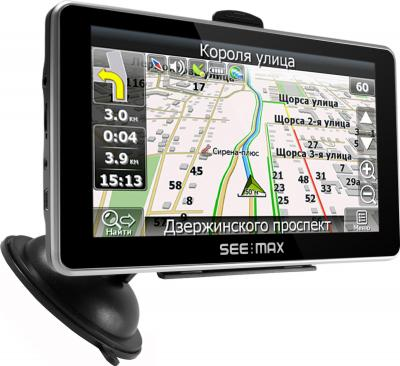 GPS навигатор SeeMax navi E610 HD 8GB ver. 2 - вид сбоку