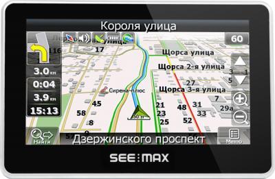 GPS навигатор SeeMax navi E410 ver. 2 - вид спереди