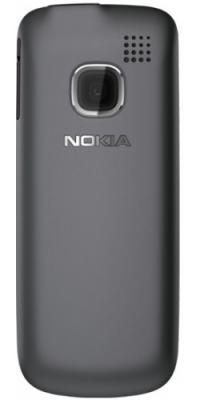 Мобильный телефон Nokia C1-01 Dark Gray - сзади