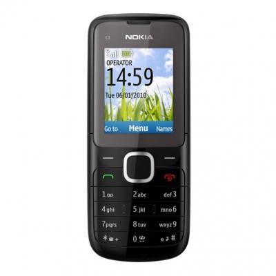 Мобильный телефон Nokia C1-01 Dark Gray - спереди