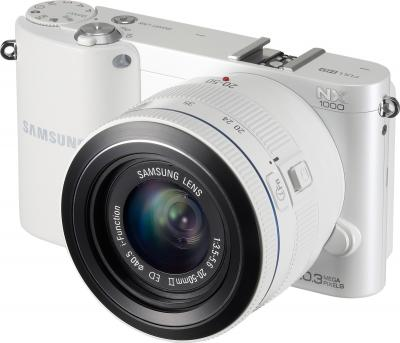 Беззеркальный фотоаппарат Samsung EV-NX1000 White (EV-NX1000BFWRU) - общий вид