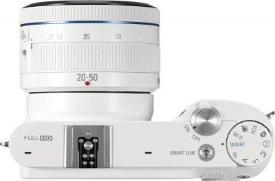 Беззеркальный фотоаппарат Samsung EV-NX1000 White (EV-NX1000BFWRU) - вид сверху
