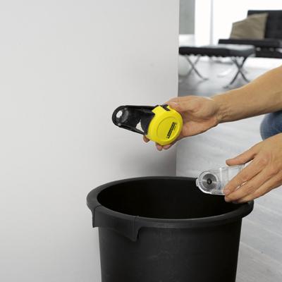 Портативный пылесос Karcher DDC50 (1.679-100.0) - очистка контейнера