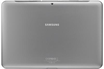 Планшет Samsung Galaxy Tab 2 10.1 16GB 3G Titanium Silver (GT-P5100) - Вид сзади