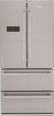 Холодильник с морозильником Beko GNE60500X - вид спереди