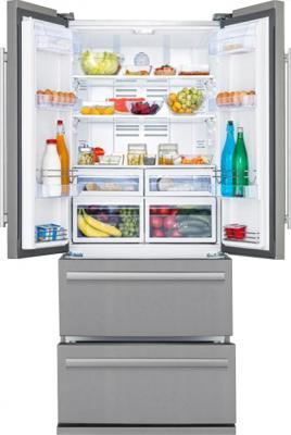 Холодильник с морозильником Beko GNE60500X - общий вид