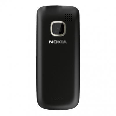 Мобильный телефон Nokia C2-00 Jet Black - сзади