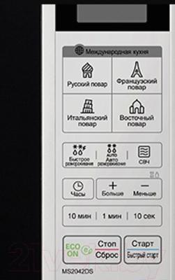 Микроволновая печь LG MS2042DS - панель
