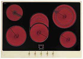 Электрическая варочная панель Smeg P875P - вид спереди