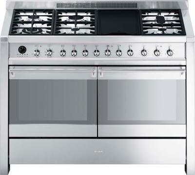 Кухонная плита Smeg A4-8  - вид спереди