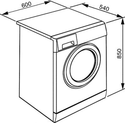 Стиральная машина Smeg WDF16BAX1 - схема