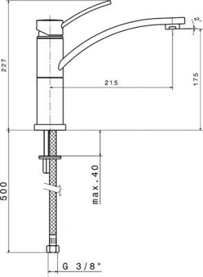 Смеситель Smeg ME6CR - схема встраивания