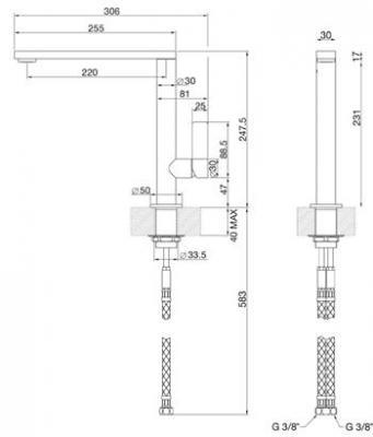Смеситель Smeg MX16 - схема встраивания
