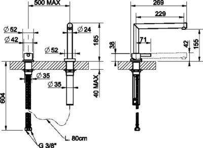 Смеситель Smeg MT0 - схема