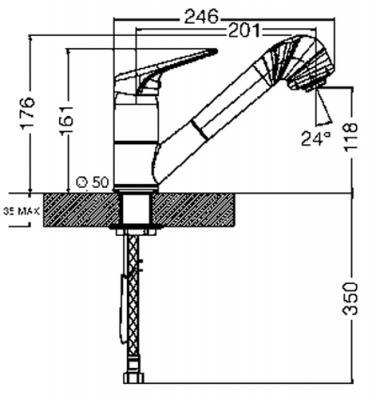 Смеситель Smeg MD10CR2 - схема встраивания