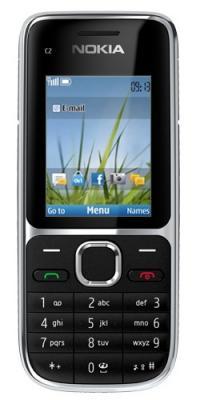 Мобильный телефон Nokia C2-01 Black - спереди